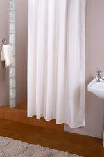 Cortina de ducha tejido blanco 240 ancho x 200 Alto incl. 14 Anillo NUEVO