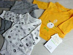 Vertbaudet -  Baby Bodysuits Vests Long Sleeve 3x Pack Boys Organic Cotton Gift