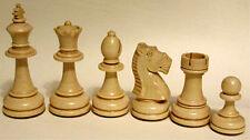 Schach Schachfiguren aus Ahorn im Stoffbeutel, poliert, Handarbeit, KH 98 mm