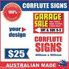 Custom Corflute Signs 900mm x 400mm x 5mm  - Australian Made