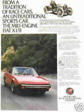 1980 FIAT X1/9 ***ORIGINAL VINTAGE AD***  X 1/9
