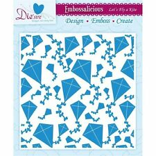 "Lets Fly a Kite - Die'Sire Embossalicious 6"" * 6"" embossing folder - EF6-LFKITE"