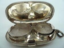 Silver Sovereign Holder, Sterling, Antique, English, Coin Holder Hallmarked 1904