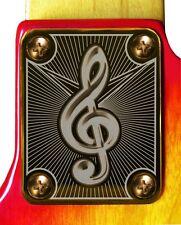 Neck Plate Neckplate Gold Fender Strat Tele P Bass J Bass Guitar Treble Clef