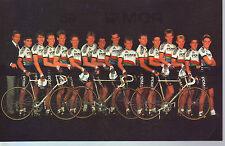 CYCLISME carte EQUIPE PDM 1986 format 17 x 11 cm