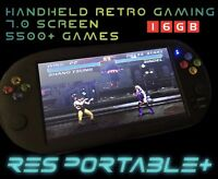 RES PORTABLE + 7 Inch Screen Handheld Retro Games Console SNES MEGADRIVE GBA 16g