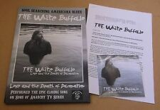 THE WHITE BUFFALO Love & The Death Of Damnation UK promo only A4 press pack + CD