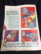 Rare Full Page Gillette Safety Razor Ad  - 1930's Magazine & Ronson Lighters