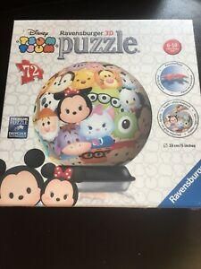 3D Jigsaw Puzzle Disney Puzzleball Tsum Tsum 72 Piece Brand New Mickey Mouse