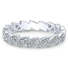 Fashion 925 Silver Women's Wedding Rings Marquise Cut White Sapphire Ring Size10