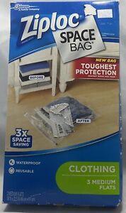 Ziploc® Space Bag® 3-Count Medium Flats Pack in Clear Waterproof/Reusable
