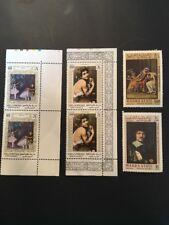 Sellos colección arte artistas South arabia Horatii cuello degas Caravaggio