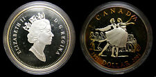 Canada 2001 Ballet of Canada Sterling Silver Proof Dollar Choice Rainbow Toning