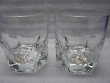2 Wild Turkey Bourbon Whiskey Glasses 6 Sides Heavy Base
