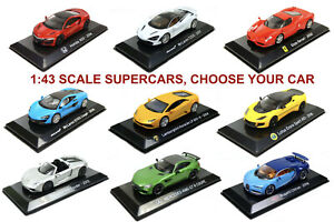 1/43 Supercar Diecast Models (Ferrari, Lambo, Lotus, Bugatti...) CHOOSE YOUR CAR