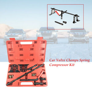 Car SUV Engine Valve Clamps Spring Compressor Installer Removal Repair Tool Box