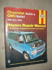 1998 GMC SAFARI /& ASTRO VAN ML VAN Service Shop Repair Manual Set 2ND EDITION