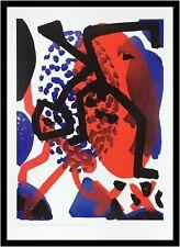 A.R. Penck Wächter Poster Kunstdruck Bild mit Alu Rahmen in schwarz 70x50cm