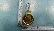 BRASS NEW SMALL PULLEY FOR CHAIN FRIESIAN TAIL OR STOEL OR SCHIPPERTJE CLOCK