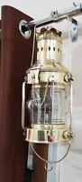 Vintage Brass Oil Lamp Maritime Ship Lantern-Anchor Boat Light Lamp Nautical