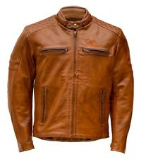 Motorrad Lederjacke Rusty Stitches Jari Jacket Brown Gr. S