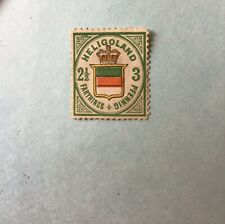 More details for heligoland 1876 3pf (5/8d) pale green, red & yellow sg12 fine mtd mint