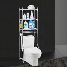 Steel Rack Storage Shelf Over The Toilet Bathroom Shelving