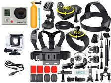 GoPro HERO 3 Silver Edition + 40 Pcs Extreme Sports Kit Bundle Set CHDHN-302