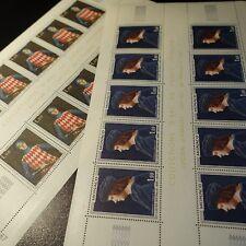 FEUILLE SHEET MONACO N°734/735 x10 RAINIER 1er / GRIMALDI 1967 NEUF ** LUXE MNH