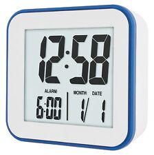 ACCTIM KNOX DIGITAL WHITE ALARM CLOCK WITH CALENDAR & SNOOZE FUNCTION 15012
