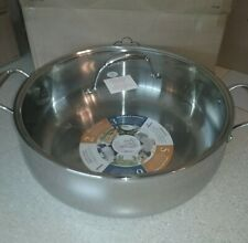 Princess House Tri Ply Stainless Steel 14 qt. Sear and Simmer Pan, Pot #5708 NEW
