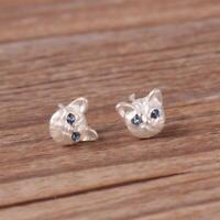 1 paar Katze Kätzchen Ohrringe Super Nette Schwarz, Ohrringe Gold, Weiß T1Y5