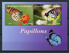 Central African Rep 2017 CTO Butterflies 2v M/S II Butterfly Insects Stamps
