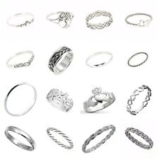 Solid Sterling Silver 925 Different Mixed Design Rings in Sizes G-Z