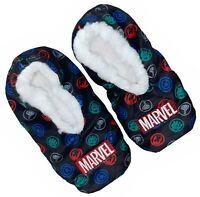 Boys Marvel Slippers Socks Avengers Sherpa Marvel Comics Hulk Iron Man