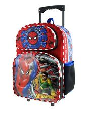 """Spiderman Rolling 16"""" Backpack - Spider-man Luggage with Wheels"""