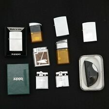 Lot of 10 Ten Used Zippo Ronson RitePoint Vector Lighters w/ Cases & Boxes