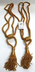 """(2) Conso Curtain Tiebacks ~ Bronze ~ 36"""" L / 5.5"""" Tassel **NEW**"""