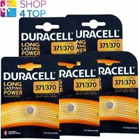 5 DURACELL 371/370 SR920 BATTERIES SILVER OXIDE 1.5V WATCH BATTERY EXP 2022 NEW