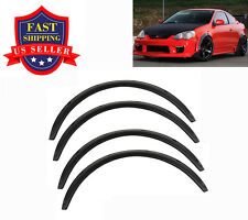 "Universal 4pcs PP 2.75""/70mm Fender Flares JDM Over Wide Body Wheel Arches"
