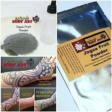Jagua Tattoo Powder Kit (Dehydrated fruit) makes 4 oz of Black temp tattoo gel