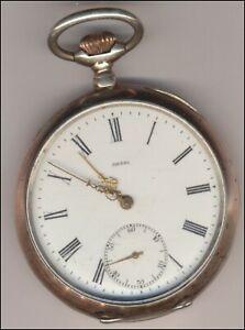 OMEGA Taschenuhr Silber  1910 läuft