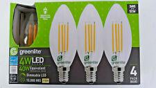 Greenlite Led Candelabra Light Bulb B10 4 Pack Decorative Chandelier 4W