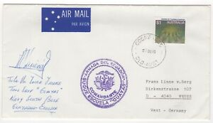 """1988 Jan 28th. """"Tall Ships"""" Cover. Carried on Buque Escuela """"Guaya"""". Signed."""
