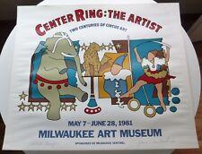 CIRCUS ART  MILWAUKEE ART MUSEUM  1981  JEROME HASLBECK  SIGNED ARTIST PROOF