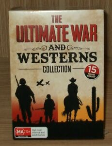 The Ultimate War & Westerns (15-Movie Collection) Dvd 15-Disc Brand New & Sealed
