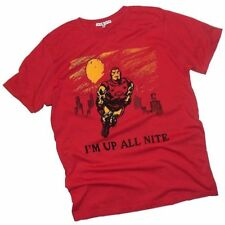 "Iron Man: ""I'm Up All Nite"" - official Junk Food Adult T-Shirt  - NEW!"