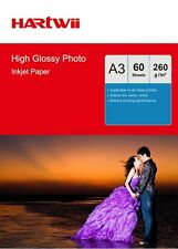 60 Sheets A3 260 Gsm High Glossy Photo Paper Inkjet Paper Printer Hartwii AU