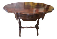 Antique Mahogany Victorian Sewing Table Work Stand