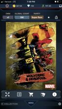 Topps Marvel Collect Gold Impressions Wolverine and Deadpool *digital